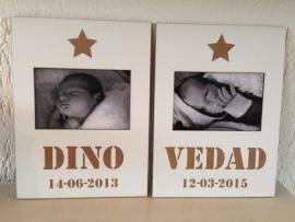 Fotolijstjes met naam Dino en Verdad