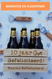 Bierkistje en flesopener voor Jubileum QNØT