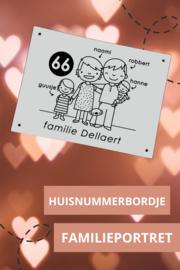Huisnummerbord voor familie Dellaert