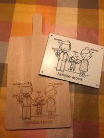 Huisnaambordje Familie Mook