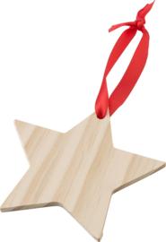 Blanco Kerstster voor houtbranden of pyrografie