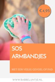 Zorgeloos op pad met onze SOS armbandjes!