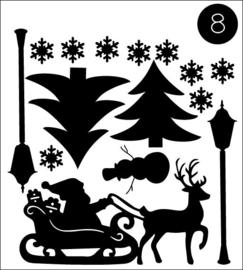 Complete set met huisjes, Herfst, Sinterklaas en Kerst in bewaarmapje!
