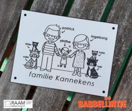 Naambordje familie Kannekens