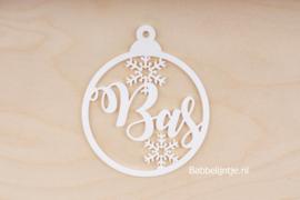 Kersthanger  met naam (kerstbal, hartje, sterretjes) Goudkleurig