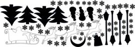 Uitbreidingsset Kerststickers