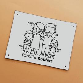 Huisnummerbordje familie Kouters