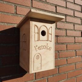 DIY vogelhuisjes met naam!