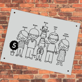 Huisnummerbordje voor grotere families (Aypril)