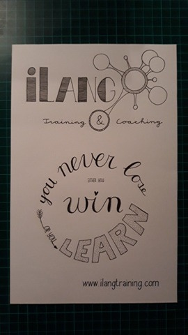 Serveerplank met je eigen tekening/ handlettering!
