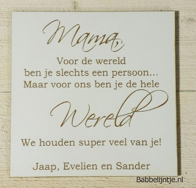 Mini tekstbord: Mama