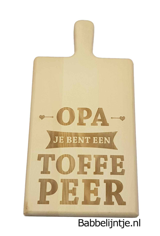 Borrelplank: Je bent een Toffe Peer!