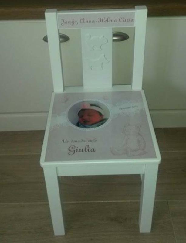 Geboortestoeltje voor Giulia
