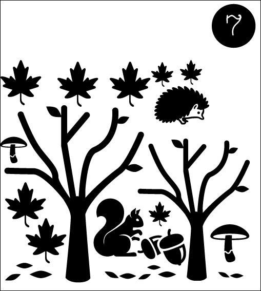 7. Statische raamstickers set Herfst