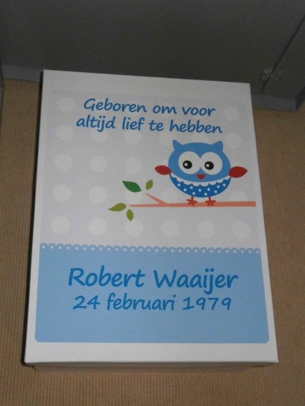 Geboortedoos voor Robert