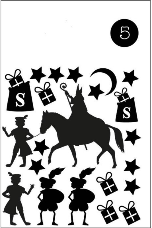 5. Herbruikbare raamstickers Sinterklaas