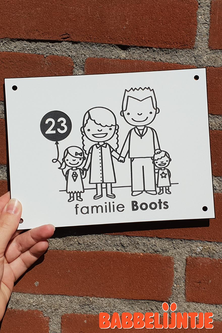 Huisnaambordje familie Boots