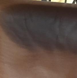vlek van zweet verwijderen uit leder