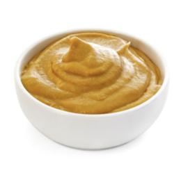 vlek van mosterd verwijderen uit leder