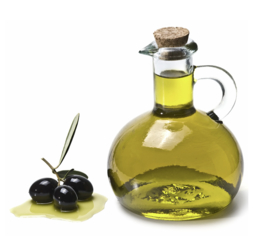 Removing stains of olive oil from textile or microfibre