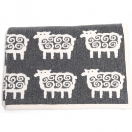 Klippan deken organic cotton Black Sheep 140x180 cm