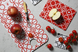 Bengt & Lotta snijplank Circles rood