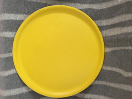Rond dienblad B&L Wood summer yellow, ⌀35cm