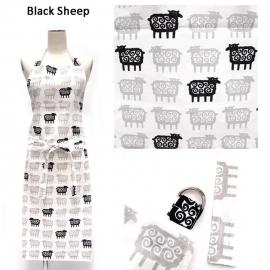 Theedoek Black Sheep, 2 stuks