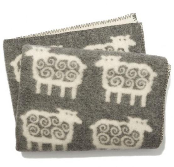 Ledikantdeken eco wol Schaap grijs