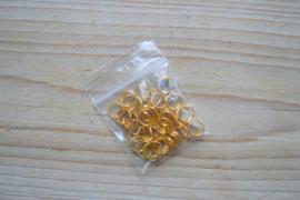 Goudkleurige ringetjes split ca. 8 mm
