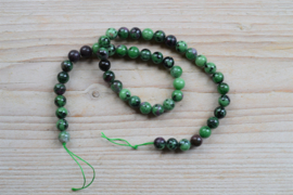 Rubin-Zoisit runde Perlen 8 mm