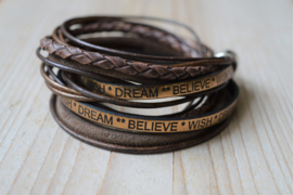 Leather Wrap XL Bruin/Brons