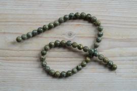 Groen Brecci Jaspis ronde kralen 8 mm