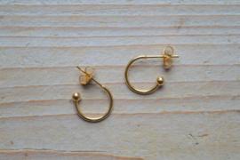 RVS Gold plated Creolen 12 mm per paar