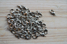 Metalen karabijnsluiting ca. 9 x 15 mm per 4 stuks