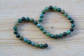 Mos Achat runde Perlen 10 mm
