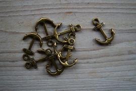 Bronzen hanger anker klein ca. 21 x 31 mm per stuk