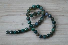 Mos Achat facettierte runde Perlen 10 mm