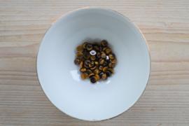 Tijgeroog coin cabochon ca. 8 mm