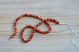 Rotes Feuerachat facettierte runde Perlen 6 mm