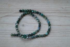 Mos Achat facettierte runde Perlen 6 mm