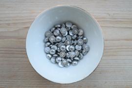 Schelp coin cabochon zilver ca. 10 mm