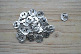 Metalen knoop '2 gaatjes' ca. 12 mm per 2 stuks