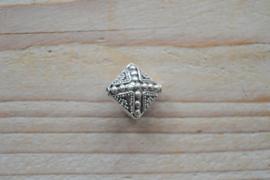 Kraal sterling zilver ca. 17 x 9 x 17 mm