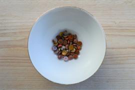 Poppy jaspis coin cabochon ca. 8 mm