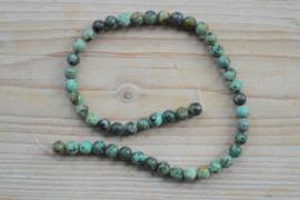 Afrikaans turquoise ronde kralen 8 mm