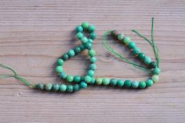 Grün Gras Achat facettierte runde Perlen 8 mm