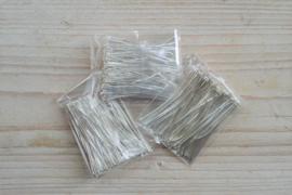 Metalen nietstiften verzilverd 45 mm ca. 100 stuks