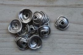 Metalen kraalkap ca. 20 mm per 4 stuks