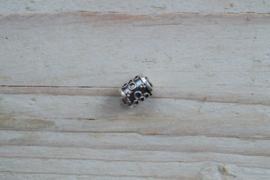 Kraal sterling zilver ca. 9,5 x 7 mm